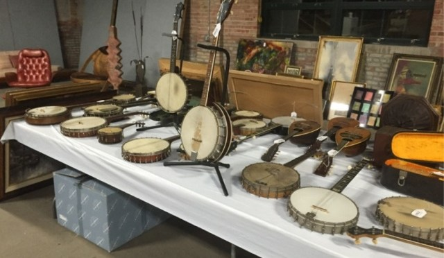 Collection of Banjos and Musical Instruments at Kraft Auctions
