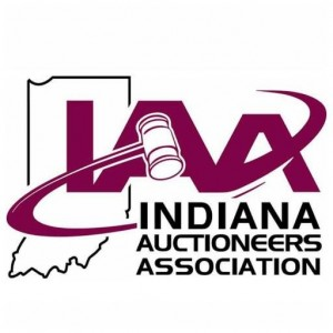 This is the logo for the Indiana Auctioneer Association