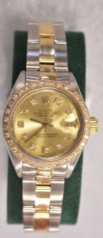 Ladies Two-Tone Rolex Oyster Perpetual Watch