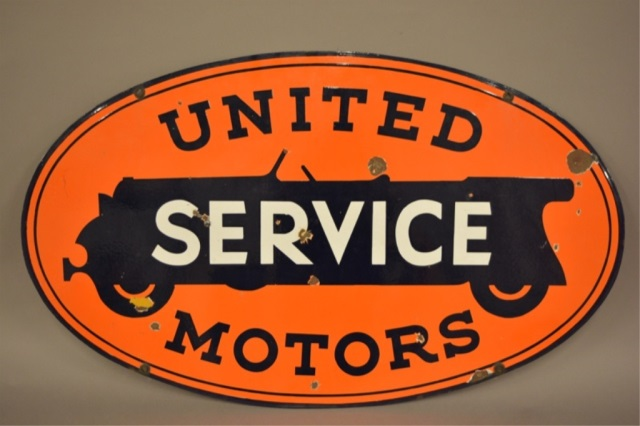 DSP United Motors Service Advertising Sign